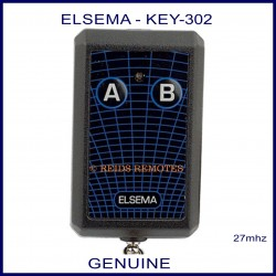 Elsema KEY-302, 2 button 27mhz key ring size garage & gate remote control