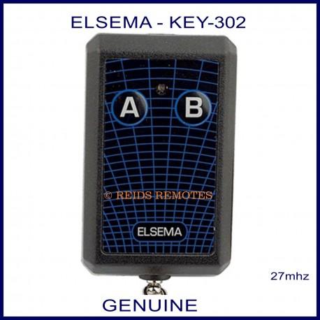 Elsema KEY-302, 2 button 27mhz key ring size garage & gate remote control