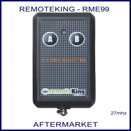 Remoteking RME99, 2 button 27mhz key ring size garage & gate remote control