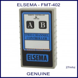 Elsema FMT-402, two channel 27mhz garage door & gate remote controller