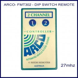 ARCO FMT-302, 2 button 27 MHz vehicle access remote control