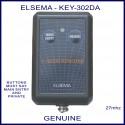 Elsema KEY-302DA, 2 button 27 MHz key ring size remote control