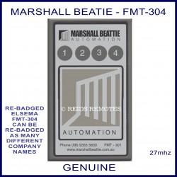 Marshall Beattie FMT304, 4 channel 27mhz remote controller