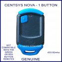 Centsys Nova blue 1 button genuine gate remote
