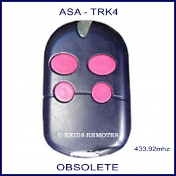 ASA TRK4, 4 pink button navy blue gate remote control