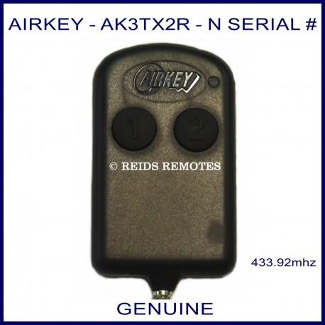 Airkey AK3TX2R - N Serial number thin 2 button remote
