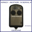 Airkey AK3TX2R - N Serial number thin 2 button remote control