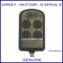 Airkey AK3TX4R - N Serial number thin 4 button remote