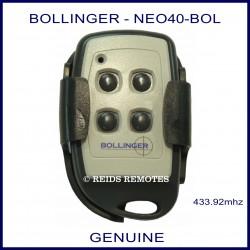 Bollinger 4 Button - NEO40-BOL gate remote