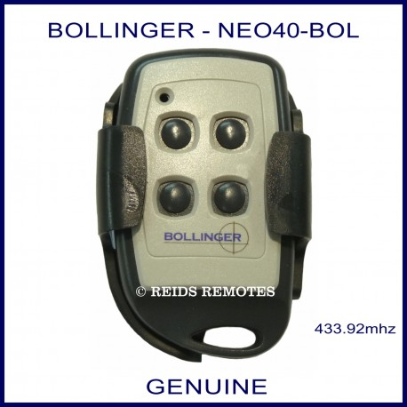 Bollinger 4 Button - NEO40-BOL gate remote