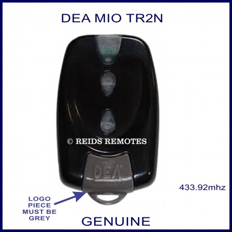 DEA MIO TR2N black gate remote with 2 buttons