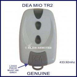 DEA MIO TR2 white gate remote with 2 buttons