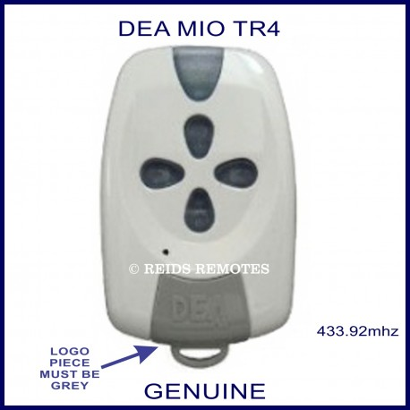 DEA MIO TR4 white and grey gate remote with 4 buttons