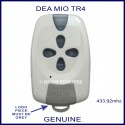 DEA MIO TR4 white and grey gate remote control with 4 buttons