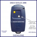 DEA GOLD 288 navy blue gate remote control with 2 buttons