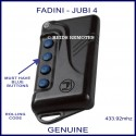 Fadini Jubi 4 black gate remote control with 4 blue buttons