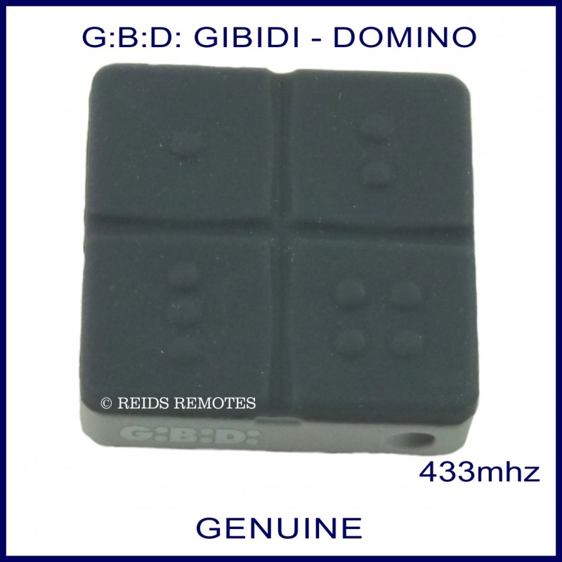Two Car Garage Door: Gibidi G:B:D: Domino DTC 4334 Black 4 Button Gate Remote