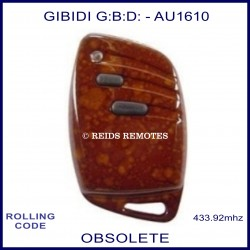Gibidi (G:B:D:) AU1610 2 button woodgrain gate remote