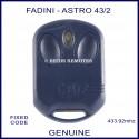 Fadini Astro 43-2 V2 Piccolo navy blue gate remote control