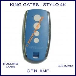King Gates Stylo 4K blue garage door & gate remote control