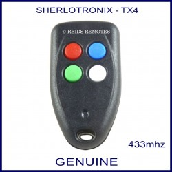 Sherlo TX4 4 button long range garage, gate & alarm remote control