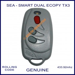 SEA Smart Dual Ecopy TX3 - 3 button grey gate remote