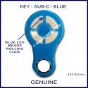 KEY Blue rolling code garage & gate remote 4 grey buttons