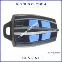RIB Sun Clone black gate remote control with 4 blue buttons