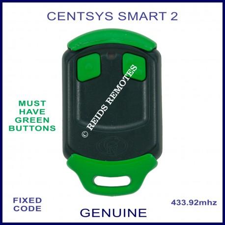 Centsys Smart 2 - green button gate remote