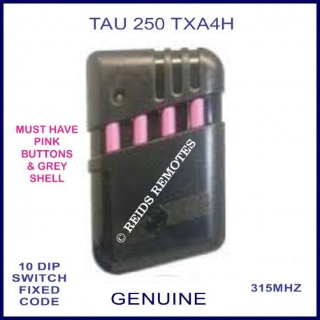 TAU 250 TXA4H 4 pink button gate remote