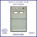 MULTI-CODE 4120 OLD shape 2 button 10 dip switch remote