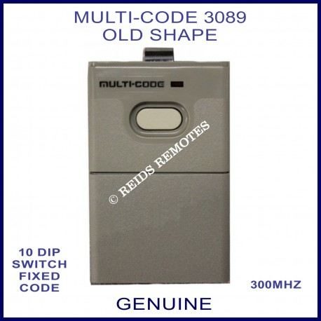 MULTI-CODE 3089 OLD shape 1 button 10 dip switch remote