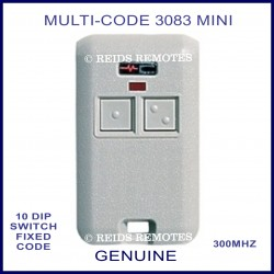 MULTI-CODE 3083 2 button 10 dip switch grey remote