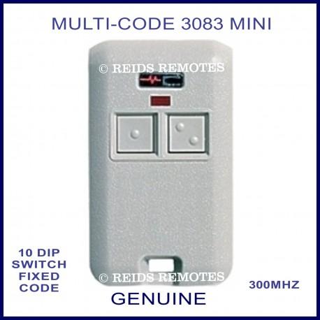 MULTI-CODE 3083 2 button 10 dip switch grey remote