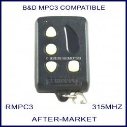 B&D MPC3 compatible Remocon 4 button remote