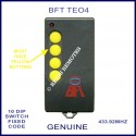BFT TEO4 - 4 yellow button 10 dip switch 433Mhz remote