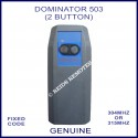 Dominator 503 2 button blue & black 315Mhz remote