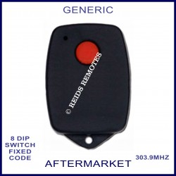 Generic 1 red button 303Mhz 8 dip switch garage remote