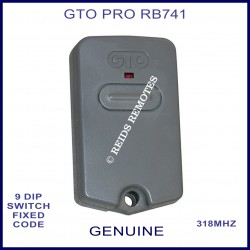 GTO PRO RB741 grey 1 button 318Mhz 9 dip switch remote