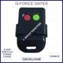 G-FORCE red & green button 330Mhz 8 dip switch garage & gate remote