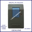 Merlin M2200 1 blue button 303.9Mhz 8 dip switch remote