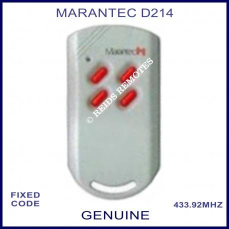 Marantec D214 - 4 red button 433.9Mhz light grey remote