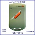 Marantec D221 - 1 red button 433.9Mhz light grey remote