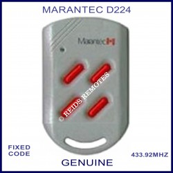 Marantec D224 - 4 red button 433.9Mhz light grey remote