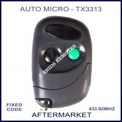 Auto-Micro TX3313, 2 button grey remote - 1 black & 1 green button