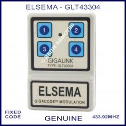 Elsema Gigalink GLT43304 4 button remote with Gigacode Modulation