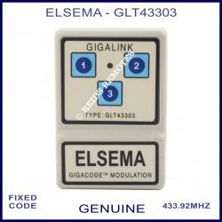 Elsema Gigalink GLT43303 3 button remote with Gigacode Modulation