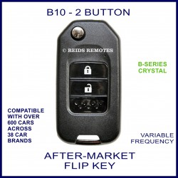 B10 - 2 button black B-Series Crystal transmitter flip-key