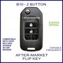 B10 - 2 button black B-Series Crystal transmitter flip-key