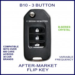 B10 - 3 button black B-Series Crystal transmitter flip-key